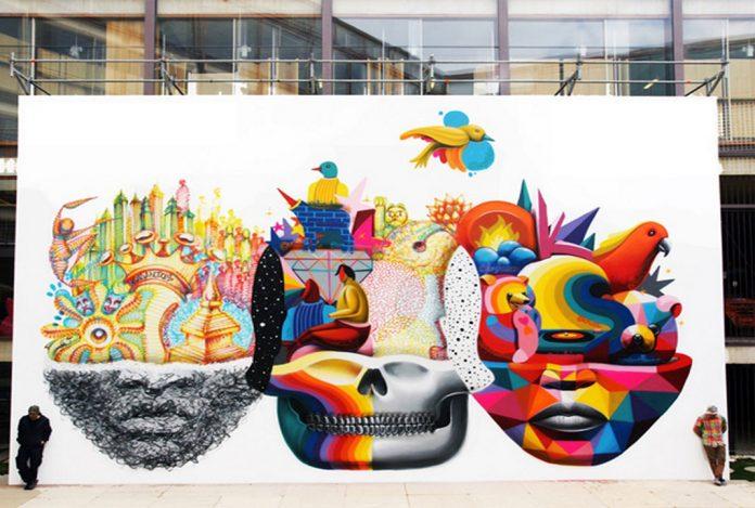 Okuda San Miguel el artista que recrea el arte urbano con Estructuras geométricas surrealistas