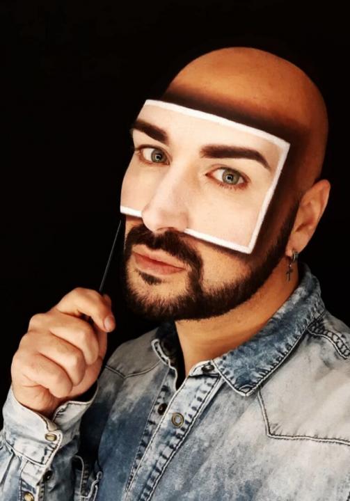 Luca Luce. El arte del make up en 3D con acento italiano