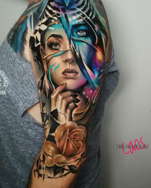 Carolina Caos Avalle. Realismo Avant- Garde en el arte del tattoo